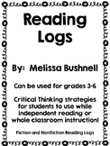 Differentiated Reading Logs:  Editable Templates!