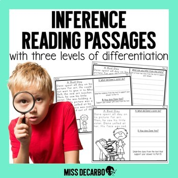 Differentiated Reading Passages Making Inferences