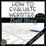 Digital Literacy:  Teach Students How to Evaluate Digital Data