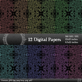 Digital Paper 12x12 + 8.5x11 Inch Album Page Jpg Card Inst