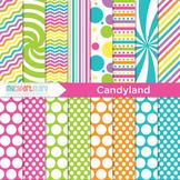 Digital Paper - Candyland / Rainbow paper