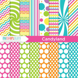 Digital Paper - Candyland / Rainbow paper