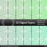 Digital Paper Flower Indian Card Scrap Booking Template Em