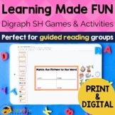 Digraph Activities, Games & Worksheets {sh}