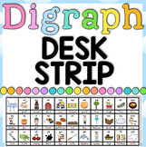 Digraph Desk Tag - Desk Strip - 1 page