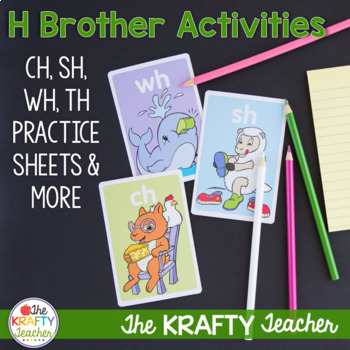 Digraphs Practice Pack including CH, TH, SH and WH
