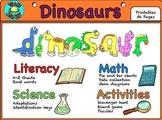 Dinosaur Unit Literacy, Math, & Science