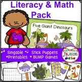 Dinosaur Literacy & Math Packet {CCSS}
