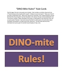 Dinosaur Theme Class Rules Posters