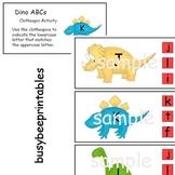 Dinosaurs ABCs Clothespin Activity - Preschool Kindergarte