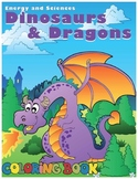 Dinosaurs and Dragons Coloring Book
