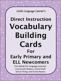 Direct Instruction Vocabulary Cards for Early Primary and