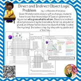 Direct and Indirect Object Pronoun Logic Problem  Spanish