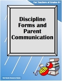 Discipline Forms and Parent Communication