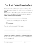 Dismissal Form for Parents