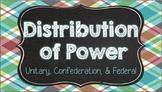 Distribution of Power - Unitary, Confederation, & Federal