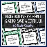 Distributive Property Task Cards (Algebra)