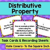Distributive Property Task Cards and Recording Sheets