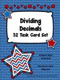 Dividing Decimals Task Card Set - Patriotic Theme