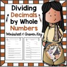 Dividing Decimals by Whole Numbers Practice and Word Probl