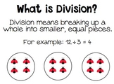 Division Dash - Division Posters, Dominoes, Flash Cards, A