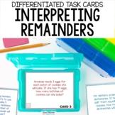 Division Task Cards - Interpreting Remainders