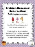 Division With Repeated Subtraction Activity/Assessment