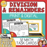 Division Word Problem Task Cards: Interpreting the Remainder