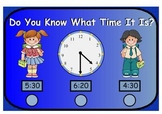 Do You Know What Time It Is? Time to the Hour and Half Hour