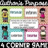 Do the Author's Purpose Promenade - a 4 Corner Game!