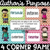 Do the Author's Purpose Promenade - a 4 Corner Game!