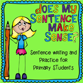 Sentence Writing and Practice for Primary Students