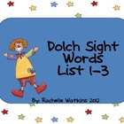 Dolch List 1-3 Center Word Game