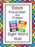 Dolch Pre-primer/Primer Word Wall