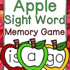 Dolch Preprimer Apple Sight Word Memory Game {FREE}