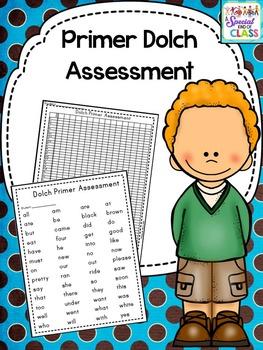Dolch Primer Word Assessment Pack