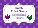 Dolch Third Grade Sight Word Boxes