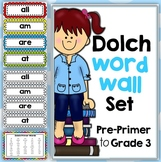 Dolch Word Walls Pre-Primer, Primer, Grade 1, Grade 2 and