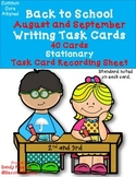 Dollar Deal! August September Writing Task Cards 2nd and 3