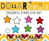 Dollar Deals Clip Art: Colorful Stars