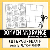 Domain & Range {From a Graph} Puzzle