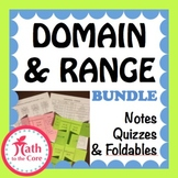 Domain & Range of a Graph, Notes & Quiz inequality interva