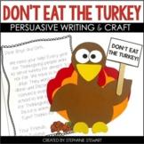 Don't Eat The Turkey!! {Thanksgiving Persuasive Writing &