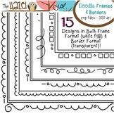 Doodle Frames & Borders Set: Graphics for Teachers