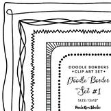 """Doodle Border Set #1 - 8.5x11"""""""