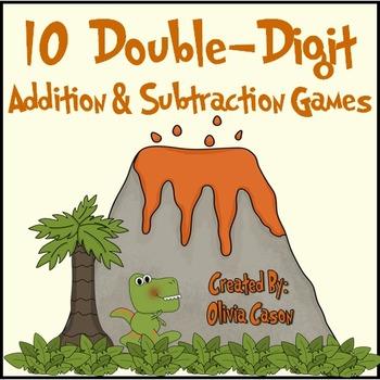 Double Digit Math Games Using Place Value (Common Core / Go Math)