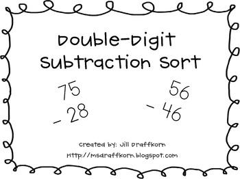 Double-Digit Subtraction Sort