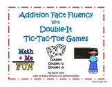 Double-It Addition Tic Tac Toe Games for Fact Fluency