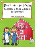 Down on the Farm Beginning 2 Digit Addition No Regrouping