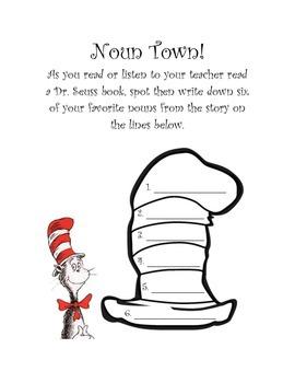 Dr. Seuss Noun and Verb Activities!
